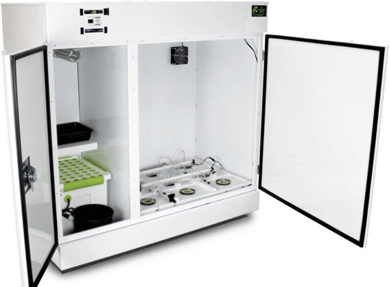 The BloomBox™ grow box with door open